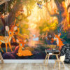 Adhesive wallpaper - Animals in the Forest