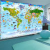 Adhesive wallpaper - World Map for Kids