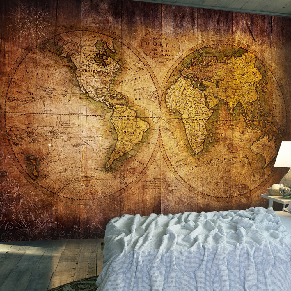 Wallpaper World On Old Map Wd Uk