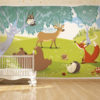 Adhesive wallpaper - Animaux foret