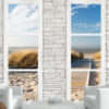 Adhesive wallpaper - Beach: view from the window