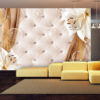 Adhesive wallpaper - Lilies and gold