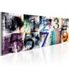 Canvas Print :  Colourful Numbers HQ prints