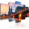 Canvas Print : Evening in Cologne HQ prints