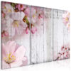 Canvas Print : Flowers on Boards (3 Parts) HQ prints