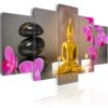 Canvas Print : Golden Buddha and orchids HQ prints