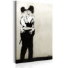 Canvas Print : Kissing Coppers by Banksy HQ prints