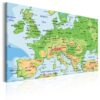 Canvas Print : Map of Europe HQ prints
