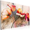 Canvas Print : Poppies lashed by the wind HQ prints