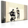 Canvas Print : Sniper and Child by Banksy HQ prints