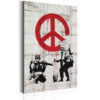 Canvas Print :  Soldiers Painting Peace by Banksy HQ prints