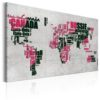 Canvas Print : World Map: The French Connection (FR) HQ prints